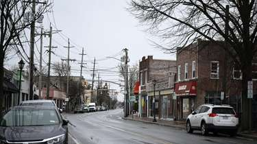 Streets were quiet Saturday morning in Woodmere.
