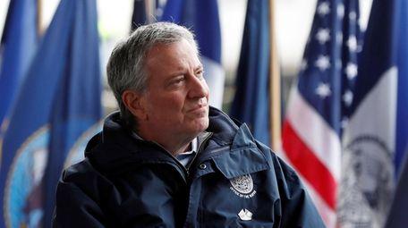New York City Mayor Bill de Blasio on