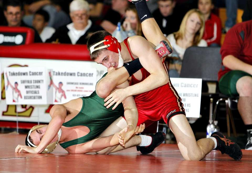 Sachem East's Jake Restrepo controls William Floyd's Anthony