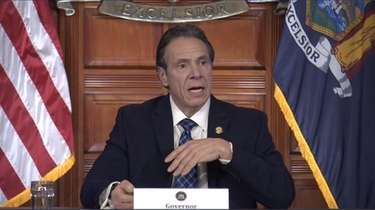 Governor Andrew M. Cuomo gives his daily briefing