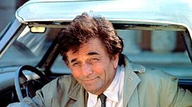 "Peter Falk as the title character of ""Columbo."""