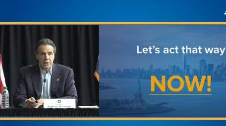 Governor Andrew Cuomo gives his daily briefing on
