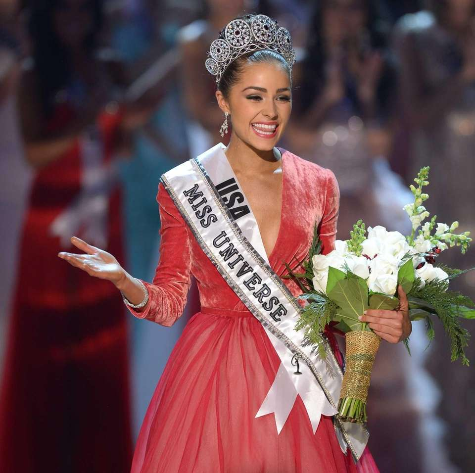 Miss USA Olivia Culpo walks on stage after