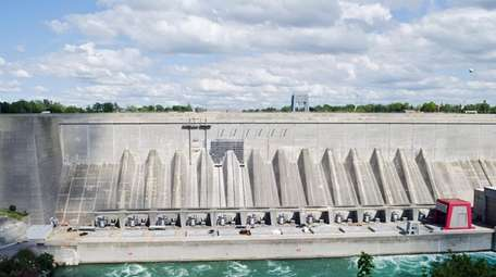 Robert Moses hydroelectric power generating station in Lewiston,