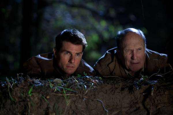 Tom Cruise, left, is Reacher and Robert Duvall