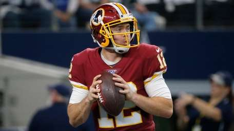 Redskins quarterback Colt McCoy before an NFL game