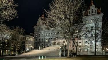 The State Capitol building in Albany. Voting for