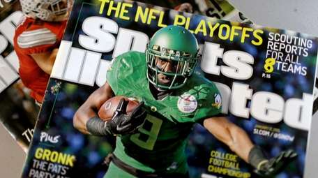 Sports Illustrated magazines are seen on Jan. 23,