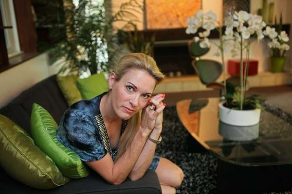 Suzy Favor Hamilton poses for a portrait at