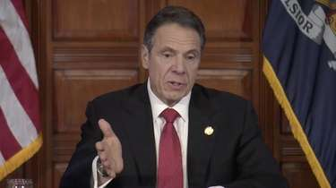 Gov. Andrew M. Cuomo gives his daily coronavirus