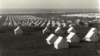 Thousands of tents erected as part of camp