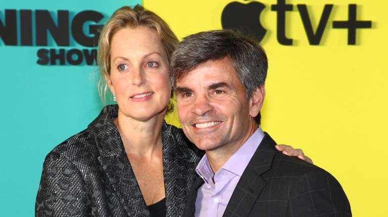 Ali Wentworth and George Stephanopoulos attend Apple TV+'s
