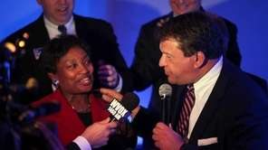 State Sen. Andrea Stewart-Cousins and George Latimer, who