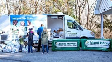 Island Harvest Food Bank, seen in November, and
