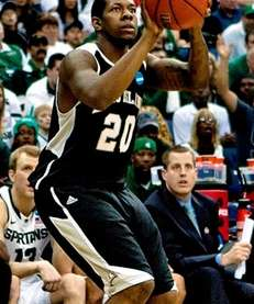 LIU's Booker Hucks shoots against Michigan State in