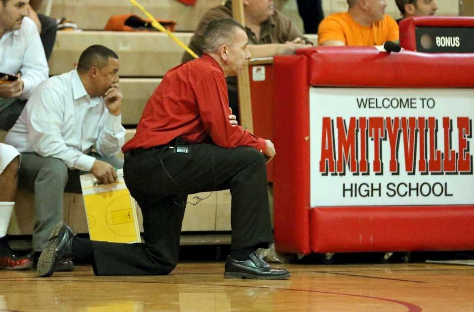 Amityville coach Jack Agostino watches his team during
