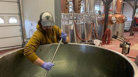 Brian Smith, a distiller at Long Island Spirits,