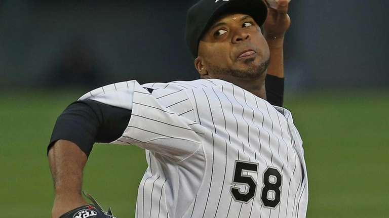 Chicago White Sox starting pitcher Francisco Liriano delivers