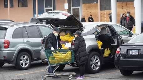 The town of Woodmere is shown March 31,