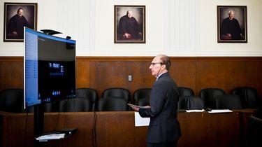 Senior court clerk Joseph DePalma during Nassau County