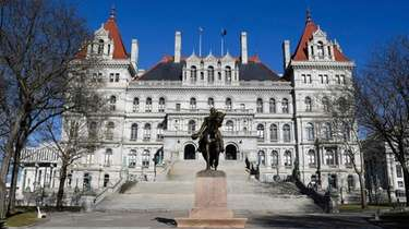The New York state Capitol building in Albany