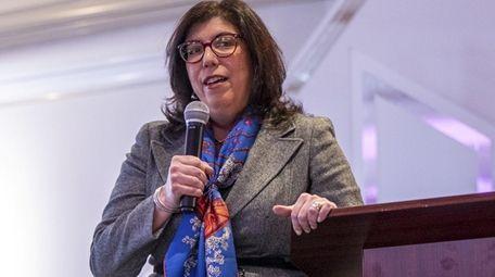 Nassau County District Attorney Madeline Singas speaks in