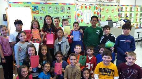 Students at Sawmill Intermediate School in Commack made