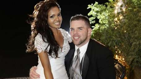 Kimberly and Kevin McCarthy on their wedding day