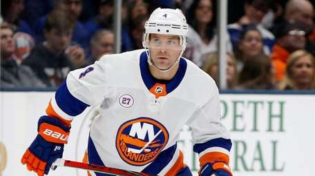 Andy Greene #4 of the Islanders skates during