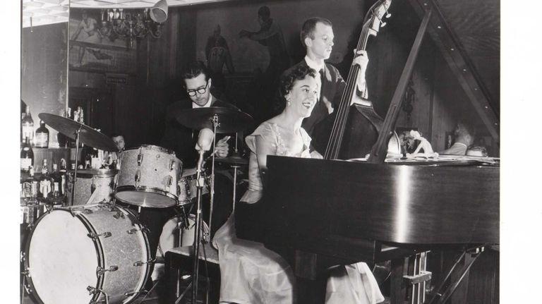 Marian McPartland with Joe Morella, left, and Bill