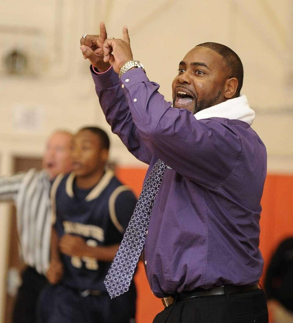 Baldwin head coach Darius Burton reacts during a