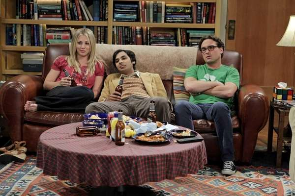 Kaley Cuoco, Kunal Nayyar and Johnny Galecki on