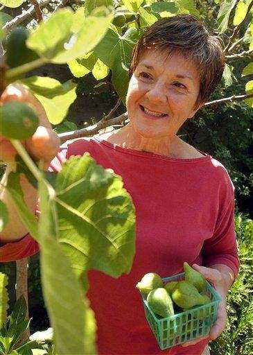 "Marie Simmons, author of ""Fig Heaven,"" in her"