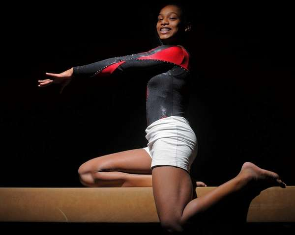 Sewanhaka District gymnast Stephanie Jennings poses for a