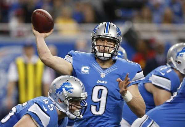 Detroit Lions quarterback Matthew Stafford throws during the
