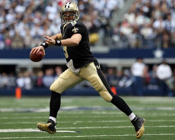 Quarterback Drew Brees of the New Orleans Saints
