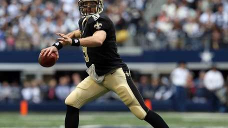 Quarterback Drew Brees of the New Orleans Saints