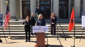 On Monday, Nassau County Executive Laura Curran held