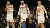 Tyson Chandler, Carmelo Anthony and Jason Kidd walk