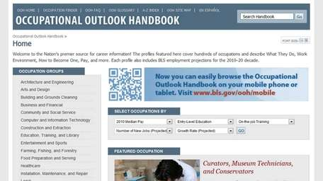 The website bls.gov/ooh/ has career information for everyone