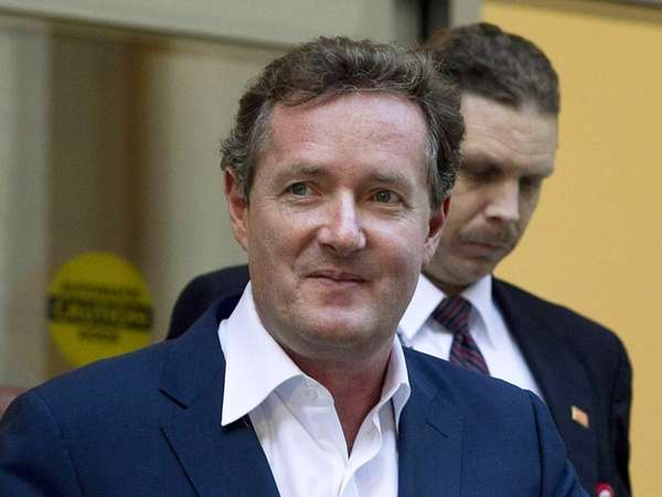 Piers Morgan leaves the CNN building in Los