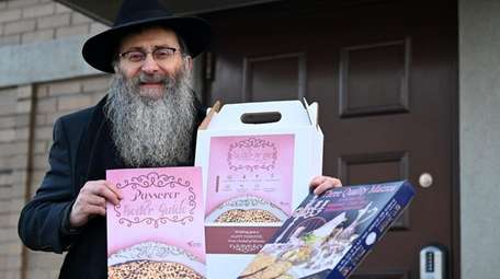 Rabbi Anchelle Perl, outside Chabad Beth Sholom in