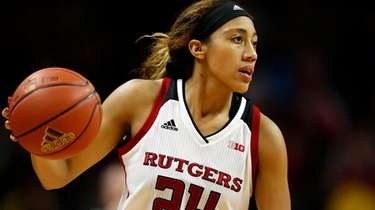 Rutgers guard Arella Guirantes against Northwestern on Dec.