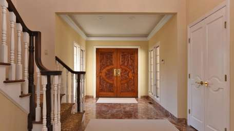 The foyer of the Sands Point home