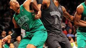 Jared Sullinger of the Celtics and Andray Blatche