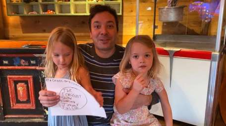 """Tonight Show"" host Jimmy Fallon with his daughters"