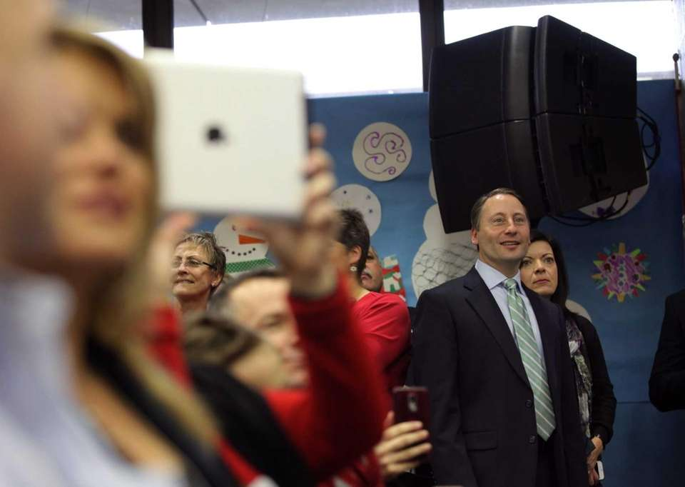 Affable Westchester County Executive Rob Astorino attends a