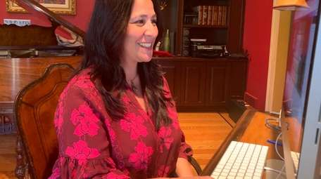 Silvana Scotto-Morici of Sands Point hosts a live
