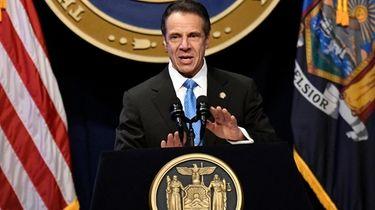 New York Gov. Andrew M. Cuomo, seen on