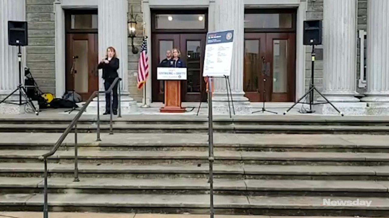 Nassau County Executive Laura Curran on Thursday spoke